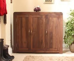 Walnut Cabinet Strathmore Solid Walnut Furniture Shoe Cupboard Cabinet Large