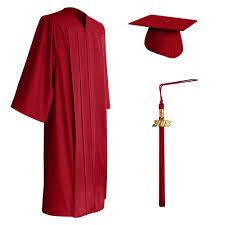 high school cap and gown matte graduation cap gown tassel set high school