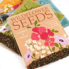 wedding seed packets grow together wildflower seed packet wedding favors plantable