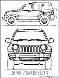 jeep wrangler front drawing jeep grand cherokee cars coloring pages cars coloring pages