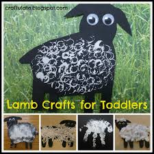 spring lamb crafting for the toddler via craftulate for doing