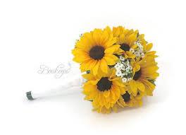 sunflower ribbon choose ribbon color sunflower baby s breath bridal