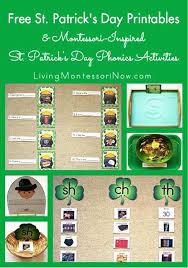 free st patrick u0027s day printables and montessori inspired st