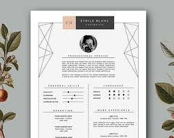 creative cover letter design resume template instant printable by resumeharbour m