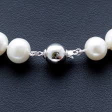 round necklace clasp images Pearl necklace aa round pearls 10 mm 17 or 20 with sterling jpg