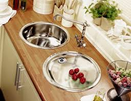 Onyx Inset Round Kitchen Drainer In Polished Steel Finish - Round kitchen sink and drainer
