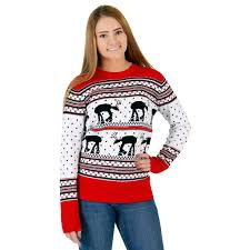 sweater wars s wars at at reindeer sweater