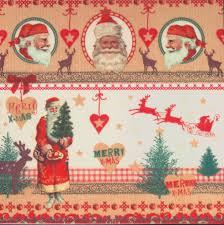 decoupage paper napkins christmas santa claus reindeer