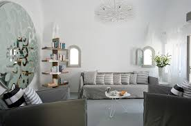 relaxing all white interior room of grace santorini hotel with sensational grace santorini hotel interior white room living area with attractive huge round arts patterned wall