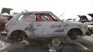 junkyard find 1978 honda civic hatchback