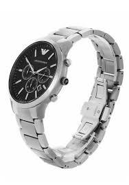 armani watches bracelet images Emporio armani men 39 s ar2460 sportivo chronograph black dial steel jpg