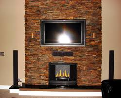 modern stacked stone fireplace design ideas home fireplaces