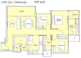 Bedroom Floor Plan Bartley Residences Floor Plans