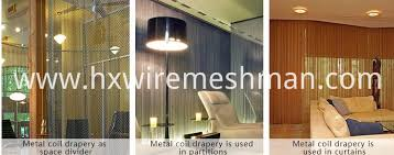 Metal Coil Drapery China Aluminum Wire Mesh Coil Curtain Manufacturers
