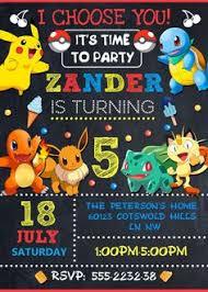 pokemon invitation pokemon go party pokemon birthday invite