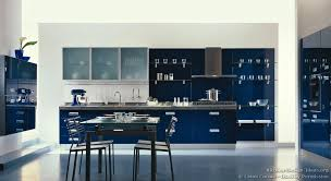 Glass Shelves Kitchen Cabinets Kitchen Idea Of The Day A Modern Luxury Kitchen With Navy Blue