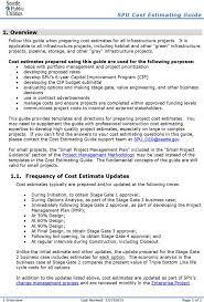 cost estimate template estimate templates for project project