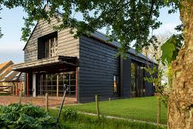 eco conscious converted barn becomes rustic high tech summer home