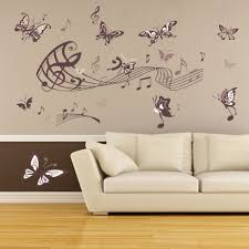 80x130cm removable diy pvc wall stickers musical notes butterfly 80x130cm removable diy pvc wall stickers musical notes butterfly paster wallpaper home parlour sofa background wall decoration in wall stickers from home