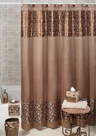 plaid shower curtains fabric two support brown wooden storage