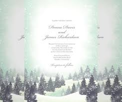 wedding program sles free 15 winter wedding invitation templates free sle exle