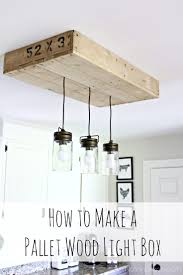Kitchen Island Light Fixture by Pallet Light Box For Your Kitchen Island Noting Grace