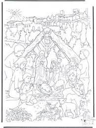 story nativity coloring sizes 8 5x11 8x10
