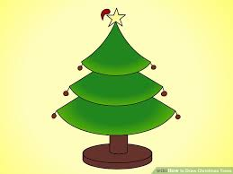 Christmas Decorations Wiki How To Draw Christmas Trees With Pictures Wikihow