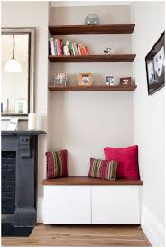 Tv Wall Shelves by Alcove Wall Shelf Design For Storage In Living Space U2013 Modern