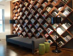 bookshelf design for home great diagonal style bookshelf design idea for home library with