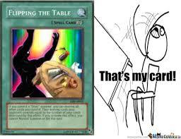 Table Throw Meme - flip the table by skyes666 meme center