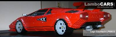 lego lamborghini car lamborghini countach lp500 s made from lego blocks image gallery