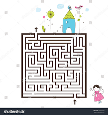 home design game help labyrinth game image help find way stock vector 582679270