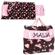pink ballerina print napbag lillian vernon