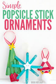 simple popsicle stick ornaments for to make