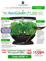 introducing the all new miracle gro aerogarden 7 led