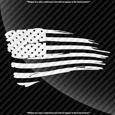 Black And White American Flag Tattered American Flag Decal U2013 Decals By Delano