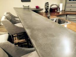 concrete top bar table engineered concrete residential bar top brooks custom