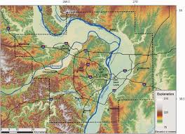 Washington State Relief Map by St Louis Area Earthquake Hazards Mapping Project Seismic And