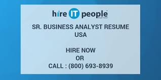 sle resume for business analyst role in sdlc phases system sr business analyst resume hire it people we get it done