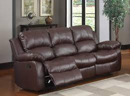 Leather Reclining Sofa Loveseat Sofa Espresso Bonded Leather Reclining Sofa Loveseat Set