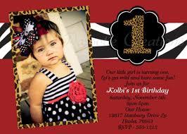 zebra leopard print birthday invitation animal print