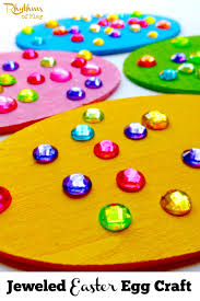 jeweled easter egg craft rhythms of play