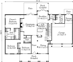 Duplex Floor Plans 3 Bedroom by Colonial Style House Plan 3 Beds 2 50 Baths 2225 Sq Ft Plan 406 256