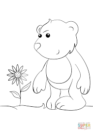 cute cartoon bear coloring page free printable coloring pages