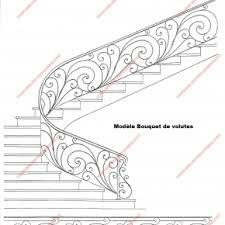 Fer Forge Stairs Design Res D Escalier En Fer Forgé Style Classique Modèle Bouquets