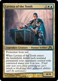 lavinia of the tenth edh deck blue white flicker mtg casual play