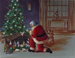 santa kneeling at the manger salazar dickerson december 2011