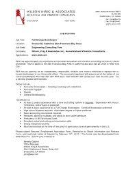 charge resume bookkeeper resume sle bookkeeper resume sle summary