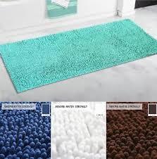 Shag Bathroom Rug Large Non Slip Bath Rug Shag Soft Microfiber Bathroom Mat
